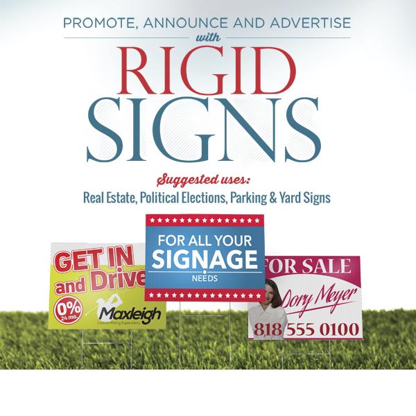 Rigid Coraplast Signs