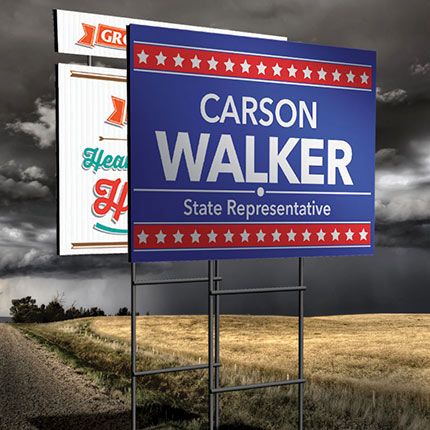 Printed Political Signs