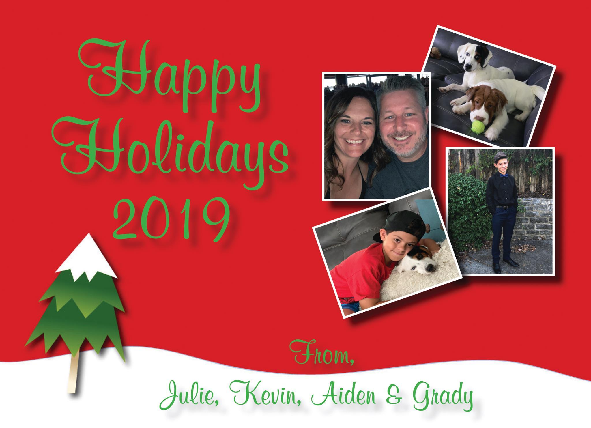 Printed Christmas Card 1